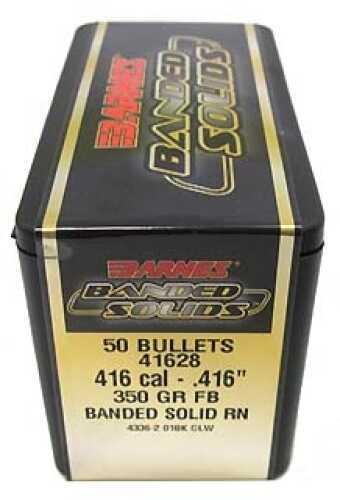 """Barnes Bullets Banded Solid Bullets 416 Cal .416"""" 350Gr Round Nose (per 50) 41628"""