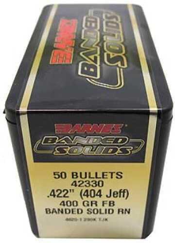 "Barnes Bullets Banded Solid Bullets 404 Jeff .422"" 400 Grain Round Nose (Per 50) 42330"