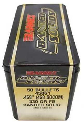 "Barnes Bullets Banded Solid Bullets 458 Socom .458"" 330Gr Flat Base (Per 20) 45861"