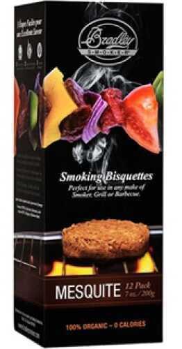 Bradley Technologies Smoker Bisquettes Mesquite (12 Pack) BTMQ12