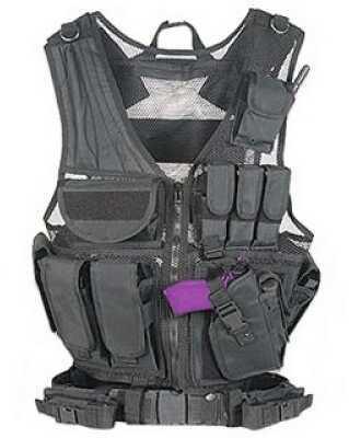 Global Military Gear Tactical Vest - Black GM-TV1