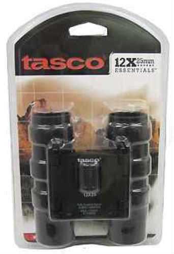 Tasco Essentials Binoculars 12x25mm, Black, Roof Prism 178RBD