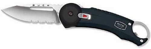 Buck Redpoint, Black, Stainless Steel Belt Cl