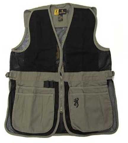 Browning Jr Trapper Creek Vest Sage/Black, Large Md: 3050545403