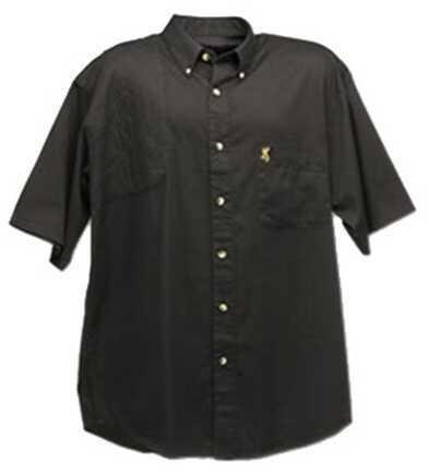 Browning Badger Creek Short Sleeve Woven Shooting Shirt Black, X-Large Md: 3010349904