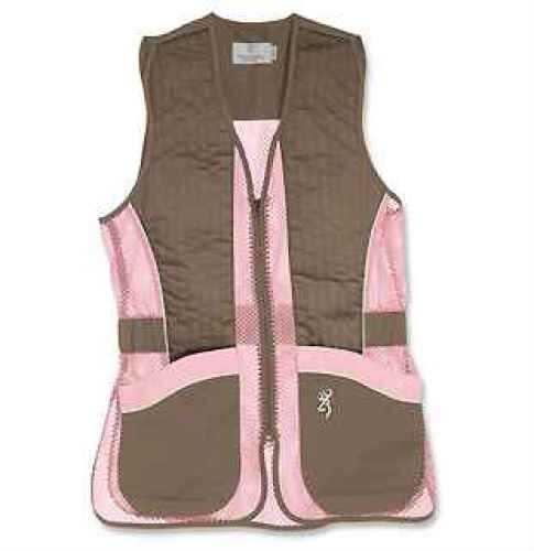 Browning Vest, Lady Mesh, Brown/Pink Medium Md: 3050678802