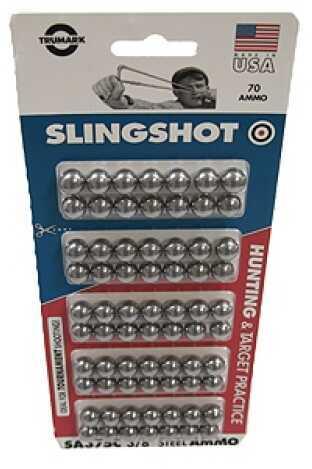 "Trumark Steel Ball Slingshot Ammo 3/8"", 70 Count, Clam Pack SA375C"
