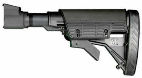 Advanced Technology Intl. ATI Saiga SFE 6 Position Fixed Stock, Black Scorpion Buttpad A.1.10.1150