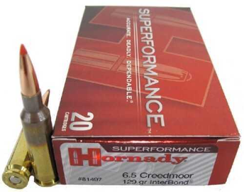 Hornady 6.5 Creedmoor by 129 Gr BTSP, Superformance (Per 20) 81497