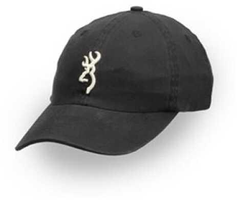 Browning Shrike Hat with 3D Buckmark Black/Cream 308004891