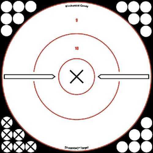 """Birchwood Casey Shoot-N-C White/Black 12"""" Bull's Eye 34019"""