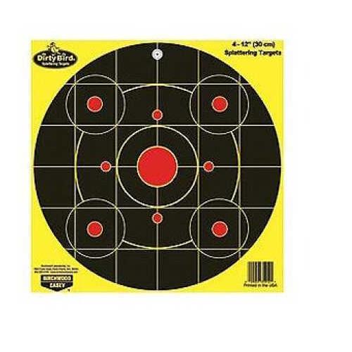 "Birchwood Casey Dirty Bird Chartreuse Bull's Eye Target 12"", Per 4 35912"