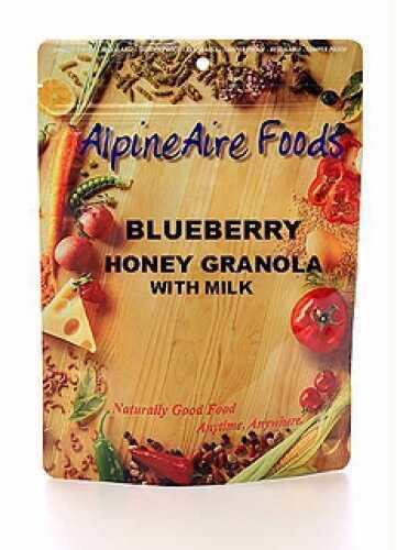 Alpine Aire Foods Blueberry Honey Granola w/Milk Serves 2 10807