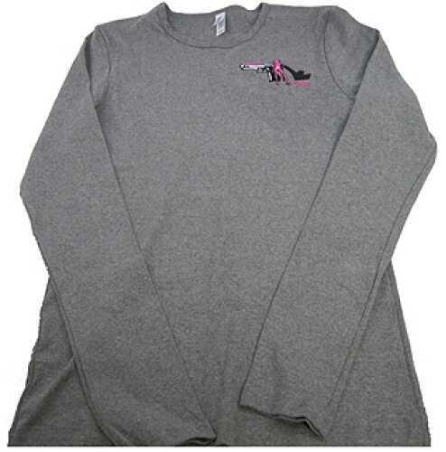 Pistols and Pumps Long Sleeve Bella T-Shirt Deep Heather, X-Large PP101-HG-XL