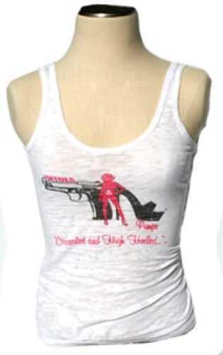 Pistols and Pumps Burnout Tank Top, White X-Large PP104-WH-XL