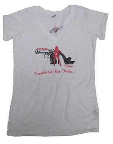 Pistols and Pumps Burnout T-Shirt White, Large PP103-WH-L