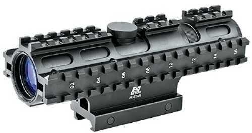 NcStar Tactical 3-Rail Sighting System 2-7x32/Rangefinder/Green/Weaver Mount SC3RSR2732G
