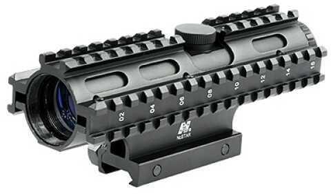 NcStar Tactical 3-Rail Sighting System 4x32/Rangefinder/Blue/Weaver Mount SC3RSR432B
