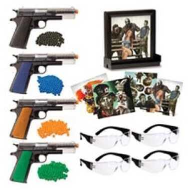 Crosman Zombie Fun Kit 4 Pistol, 4 Safety Glasses, BBs, Targets ASZFK