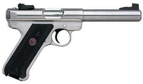 "Ruger Mark III KMKIII512 22 Long Rifle Pistol 5.5"" Bull Barrel Stainless Steel 10 Round 10103"