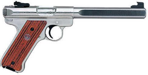 "Ruger Mark III KMKIII678GC 22 Long Rifle Pistol 6 7/8"" Bull Barrel Stainless Steel 10112"
