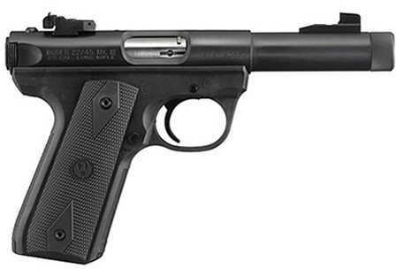 "Ruger  22/45 22 Long Rifle Pistol 4.5"" Bull Threaded Barrel  Blued 10150    P45GMK3RP"