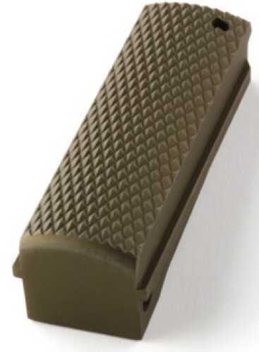Hogue Colt, 1911 Government Mainspring Housing Aluminum Checkered Flat Matte Green Anodized 01351