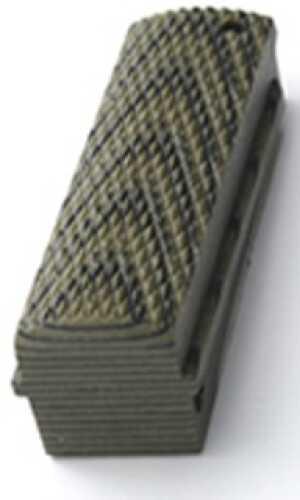 Hogue Colt, 1911 Government Mainspring Housing G-10 Checkered Flat G-Mascus Green 01358