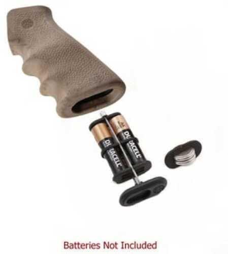 Hogue AR-15 Rubber Grip w/Storage Kit Ghillie Tan 15982