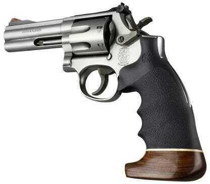 Hogue S&W K/L Frame Round Butt Grip Rubber Convert MonoGrip w/Wood Big Butt, Black Md: 19006