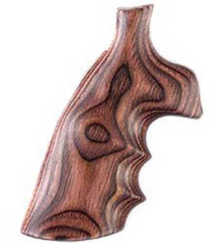 Hogue S&W K/L Frame Round Butt Grips Convert, Rose Laminate 19502