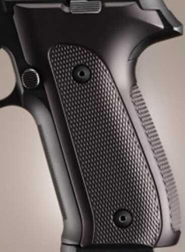 Hogue Sig P226 Grips DAK, Checkered Aluminum Brushed Gloss Black Anodized 26156