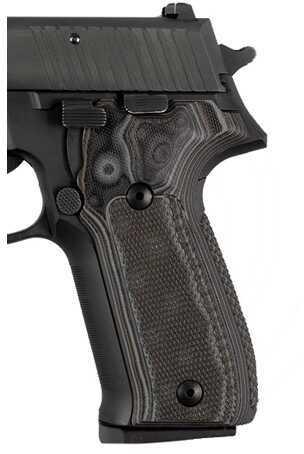 Hogue Sig P226 Grips Checkered G-10 G-Mascus Black/Grey 26177-BLKGRY