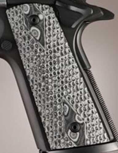 Hogue Colt & 1911 Government S&A Mag Well Grips Piranha G-10 G-Mascus Black/Grey 45127-BLKGRY