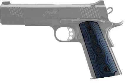 Hogue Colt & 1911 Government Grips G-10 G-Mascus Blue Lava 45668
