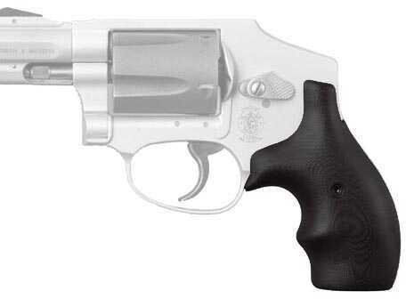 Hogue S&W J Frame Round Butt Grip Bantam G-10 Solid Black 61169