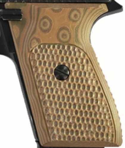 Hogue S&W J Frame Round Butt Grip Bantam Piranha G-10 G-Mascus Tan 61737