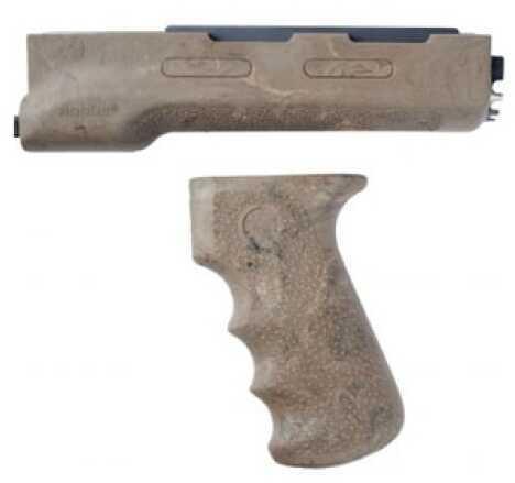 Hogue AK-47 Rubber Grip Yugo Style w/Forend, Ghillie Tan 74918