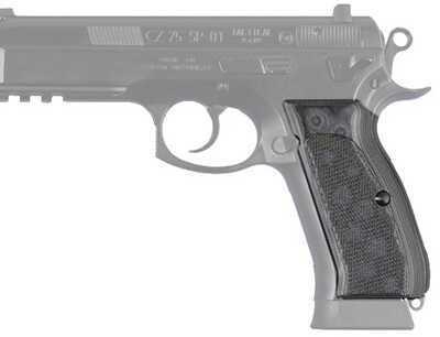 Hogue CZ-75/CZ-85 Grips Checkered G-10 G-Mascus Black/Grey 75177-BLKGRY