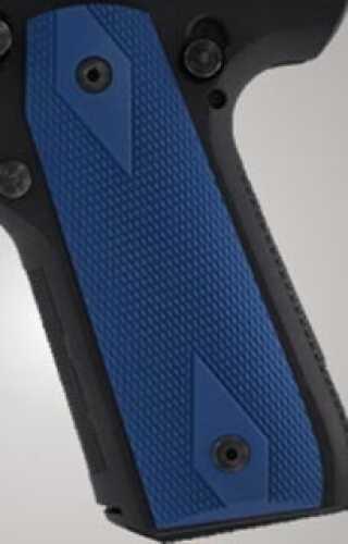 Hogue Ruger 22/45 RP Grip Checkered Aluminum Matte Blue Anodized 82153