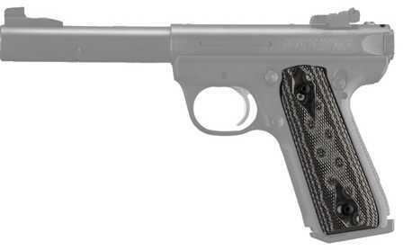 Hogue Ruger 22/45 RP Grip Checkered G-10 G-Mascus Black/Grey 82157-BLKGRY