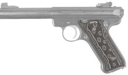 Hogue Ruger Mark II/Mark III Grip Checkered G-10 G-Mascus Black/Grey 82177-BLKGRY