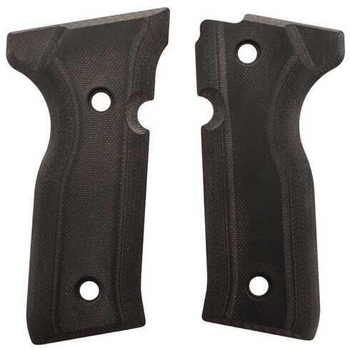 Hogue Beretta Cougar 8000+ Grips G-10 Solid Black 91169