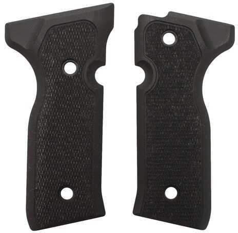 Hogue Beretta Cougar 8000+ Grips Checkered G-10 Solid Black 91179