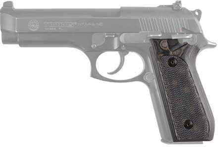 Hogue Taurus PT99+ Grips w/Decocker Checkered G-10 G-Mascus Black/Grey 99177-BLKGRY