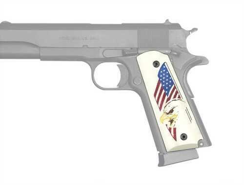 Hogue Scrimshaw Grips Eagle w/Flag Md: 45023