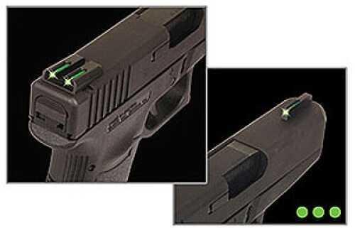 Truglo Brite-Site Tritium/Fiber Optic Sight Fits Springfield Green TG131XT