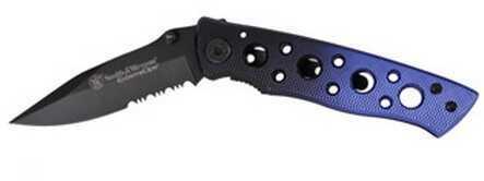 "Taylor Brands / BTI Tools SW Knife / Taylor Brands S&W EXTREME OPS 4.2"" LL BLK/BLU SER CK111S"