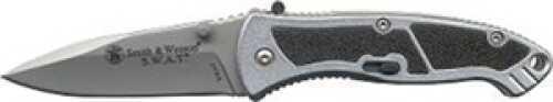 Schrade Knife Small, MAGIC Assist, Drop Point Blade, Aluminum Handle, Pocket Clip SWAT