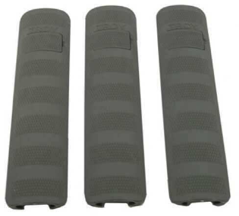 "Troy Industries 6.2"" Battle Rail Covers (Per 3) Olive Drab SCOV-BRC-36DT-00"